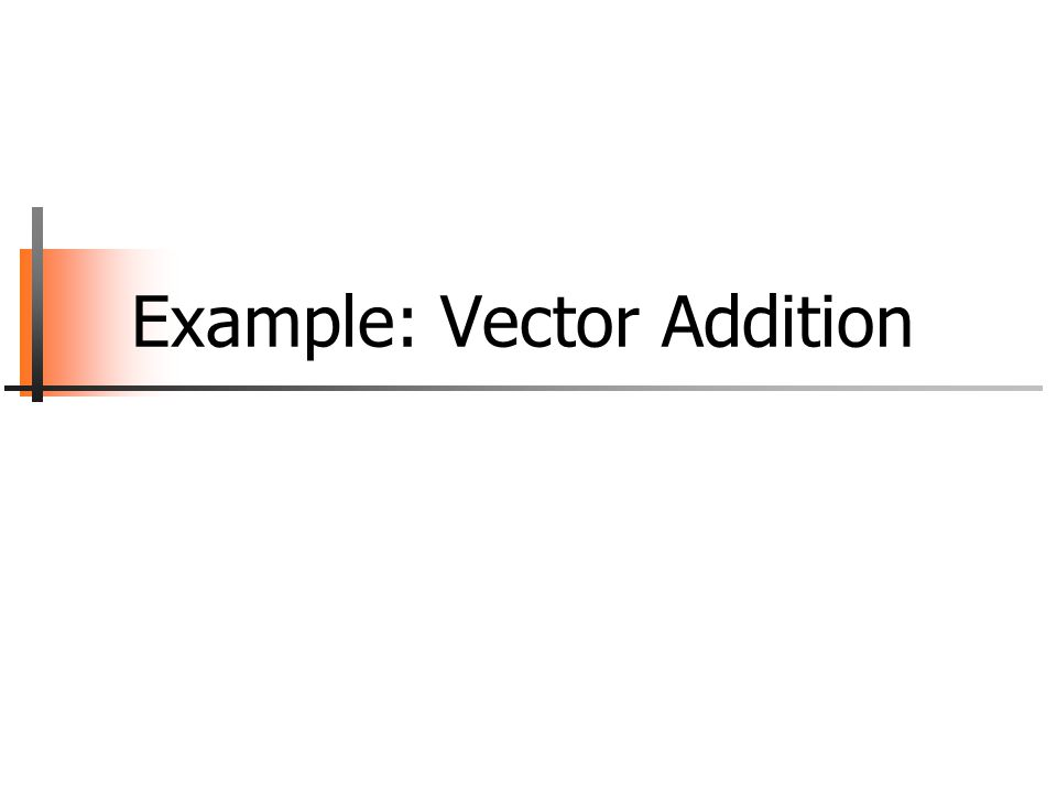 Example: Vector Addition
