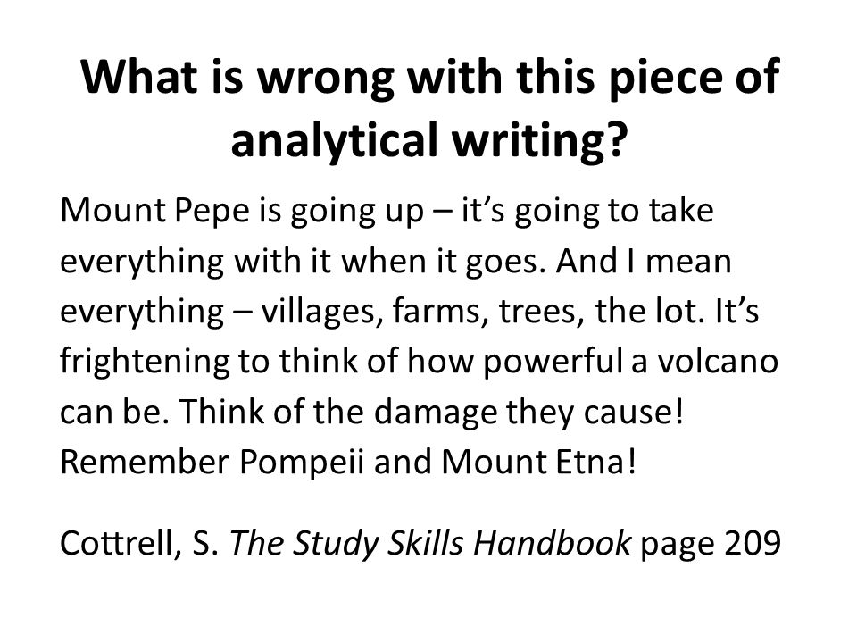 What is wrong with this piece of analytical writing? Mount Pepe is going up – it's going to take everything with it when it goes. And I mean everythin