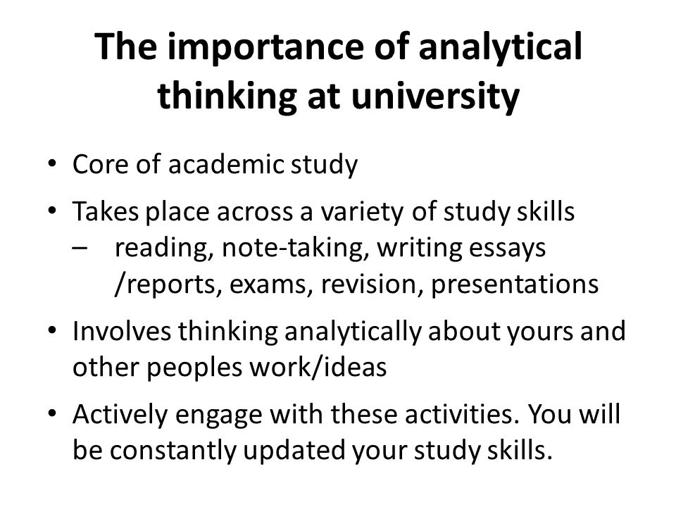 What is analytical thinking.