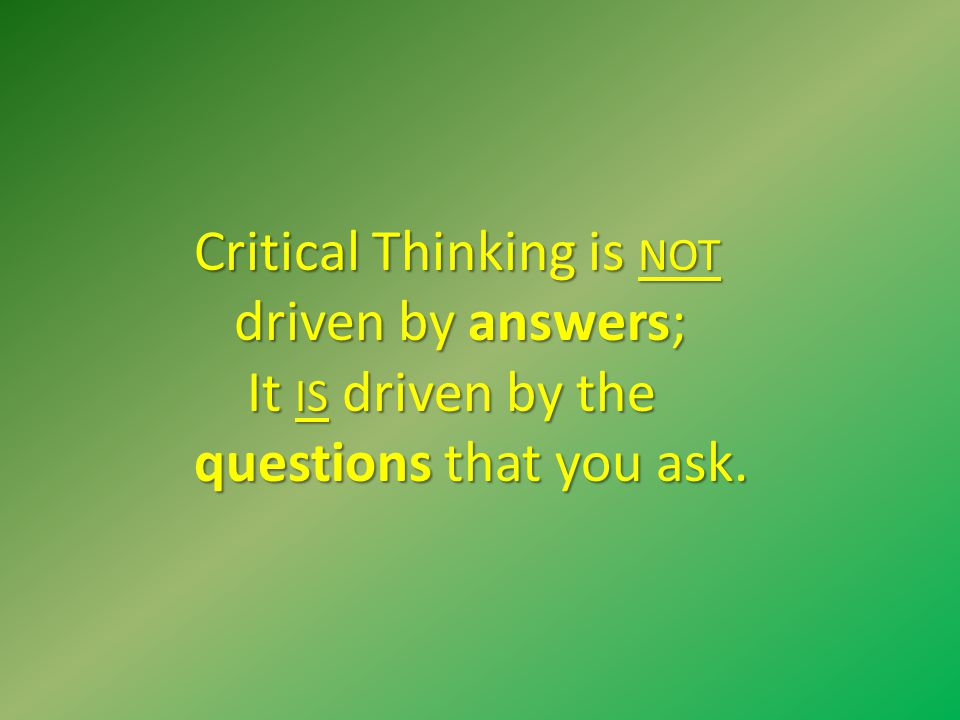 Critical Thinking In Essay Writing