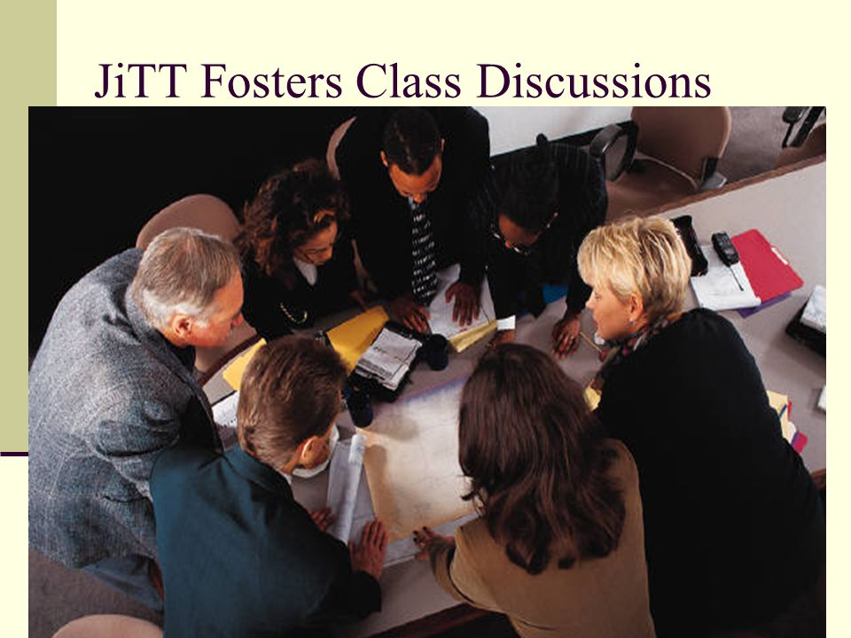 JiTT Fosters Class Discussions