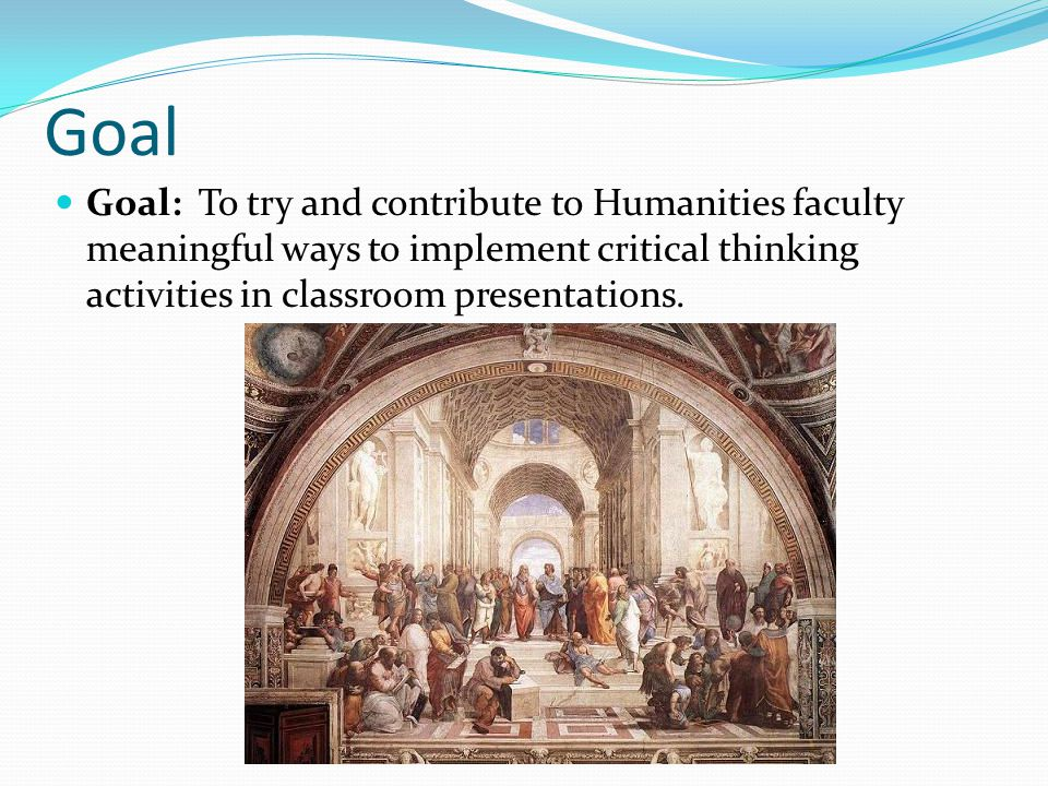 Project Project: To create a reusable scenario for HUM 2210 that others can make use of, learn from, and adopt into classroom presentations.