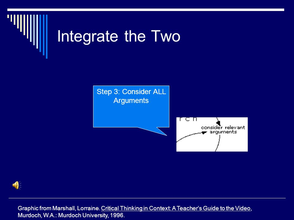Integrate the Two Graphic from Marshall, Lorraine.