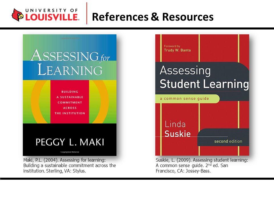 References & Resources Maki, P.L. (2004).