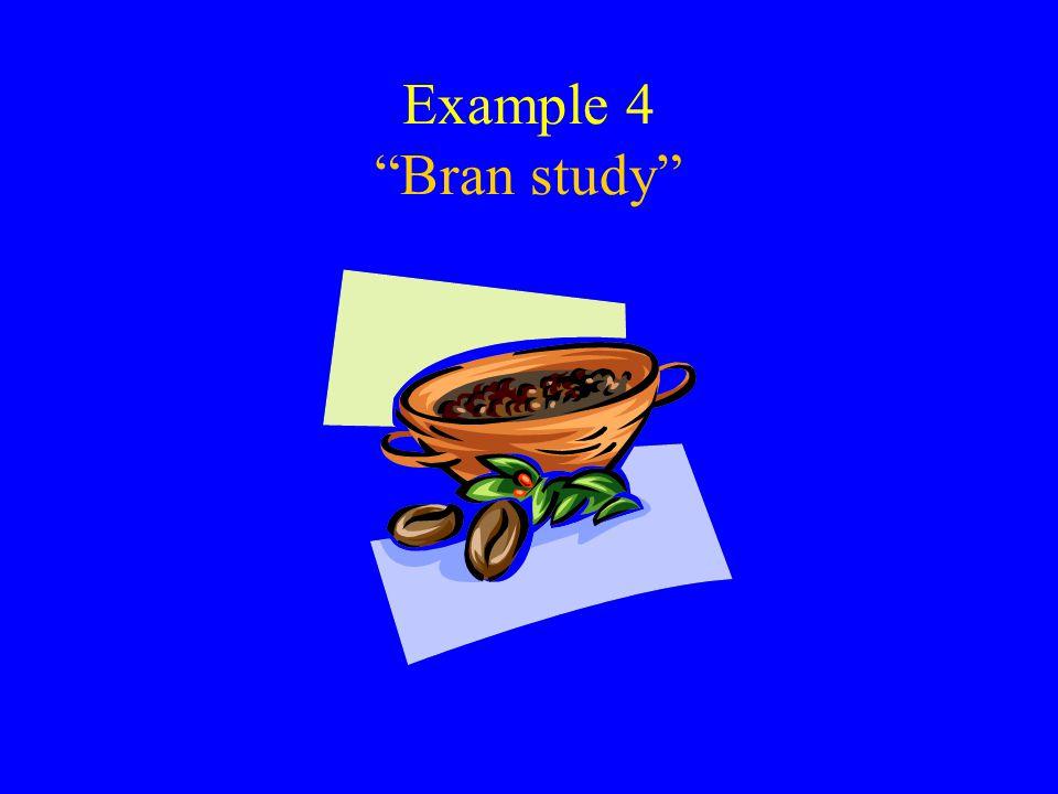 Example 4 Bran study