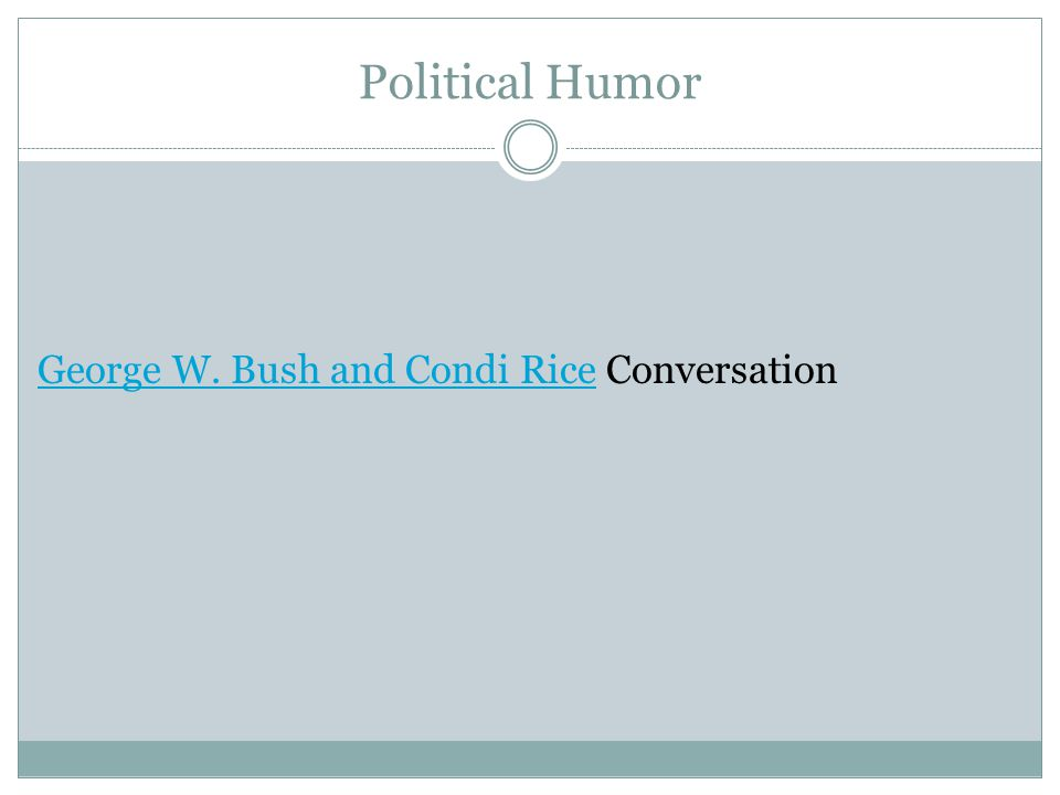 Political Humor George W. Bush and Condi RiceGeorge W. Bush and Condi Rice Conversation