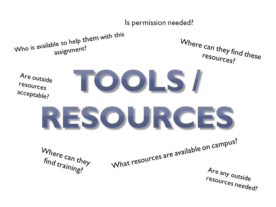 Where can they find these resources. What resources are available on campus.