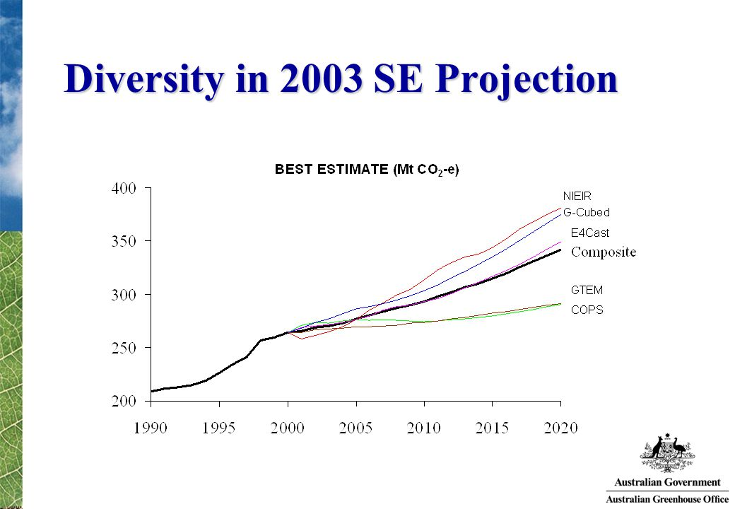 Diversity in 2003 SE Projection