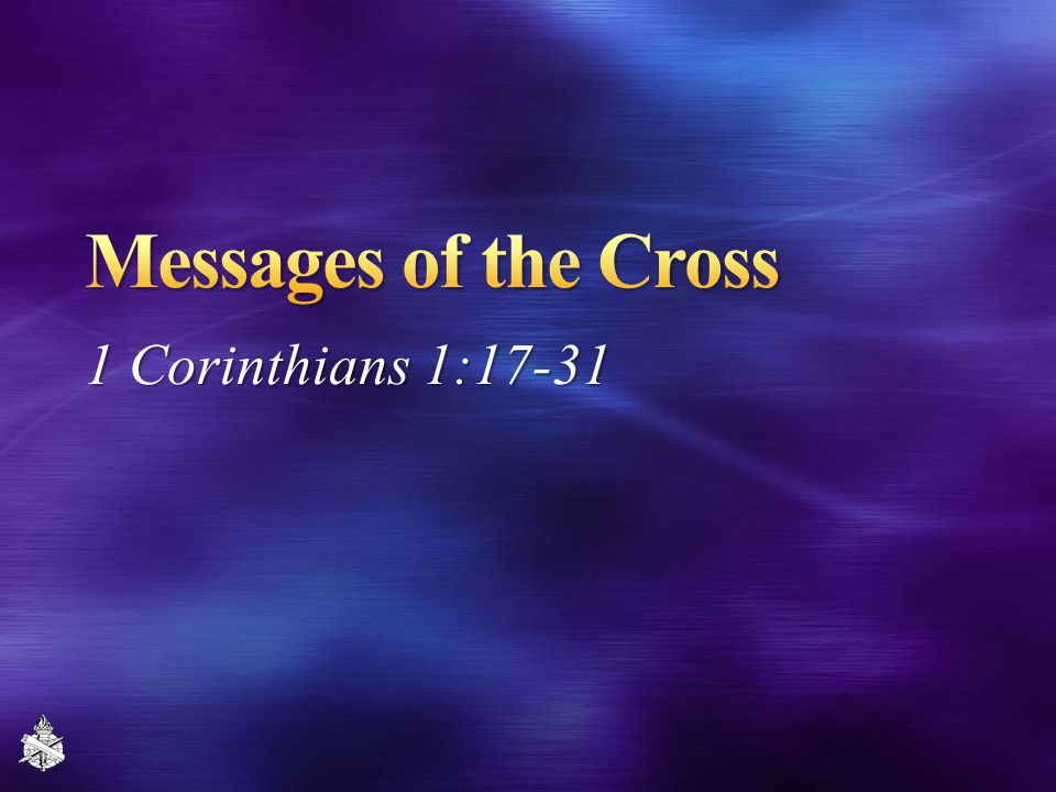 1 Corinthians 1:17-31