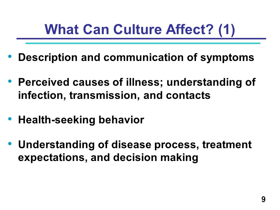 What Can Culture Affect.