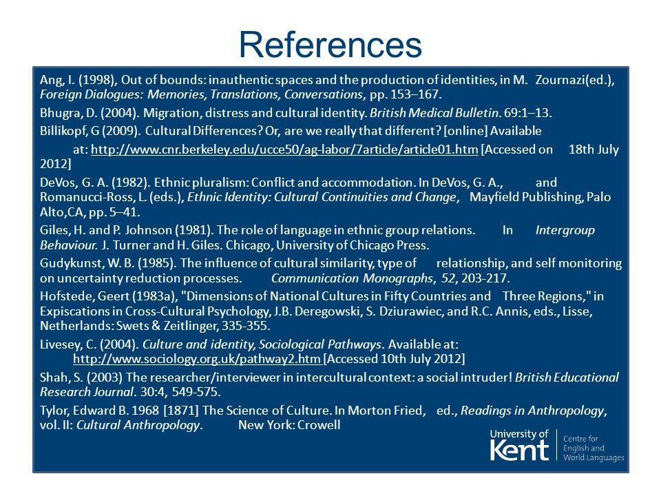 References Ang, I.