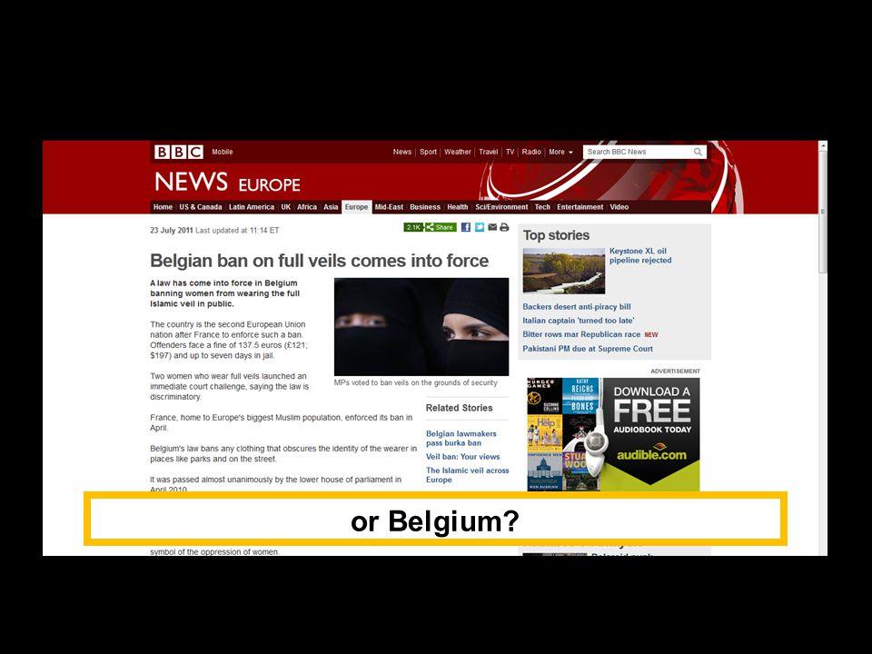 or Belgium?
