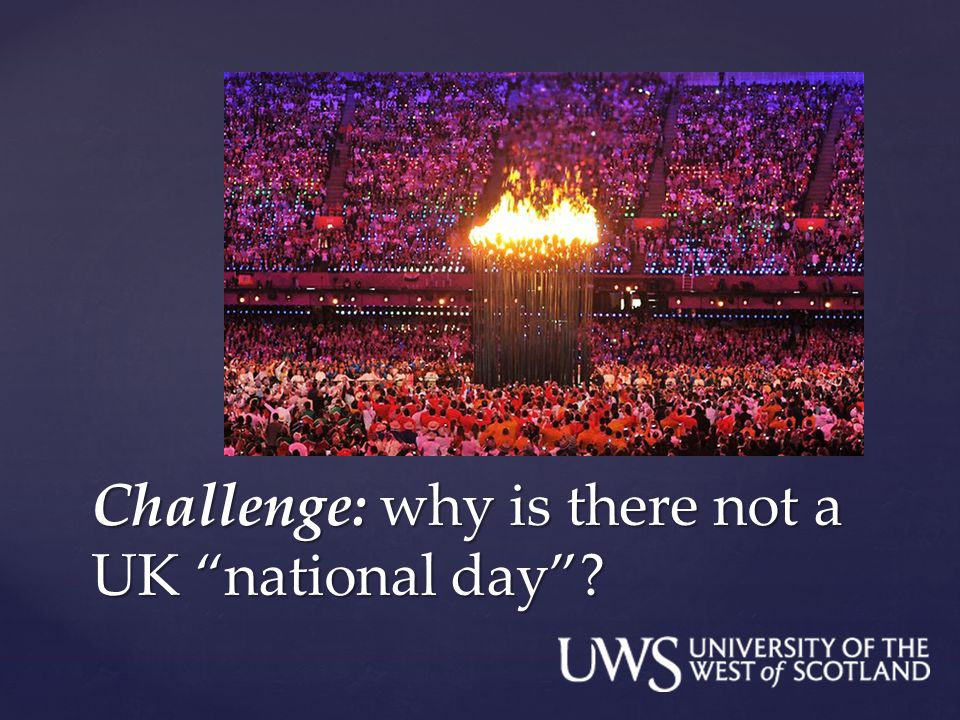 Challenge: why is there not a UK national day