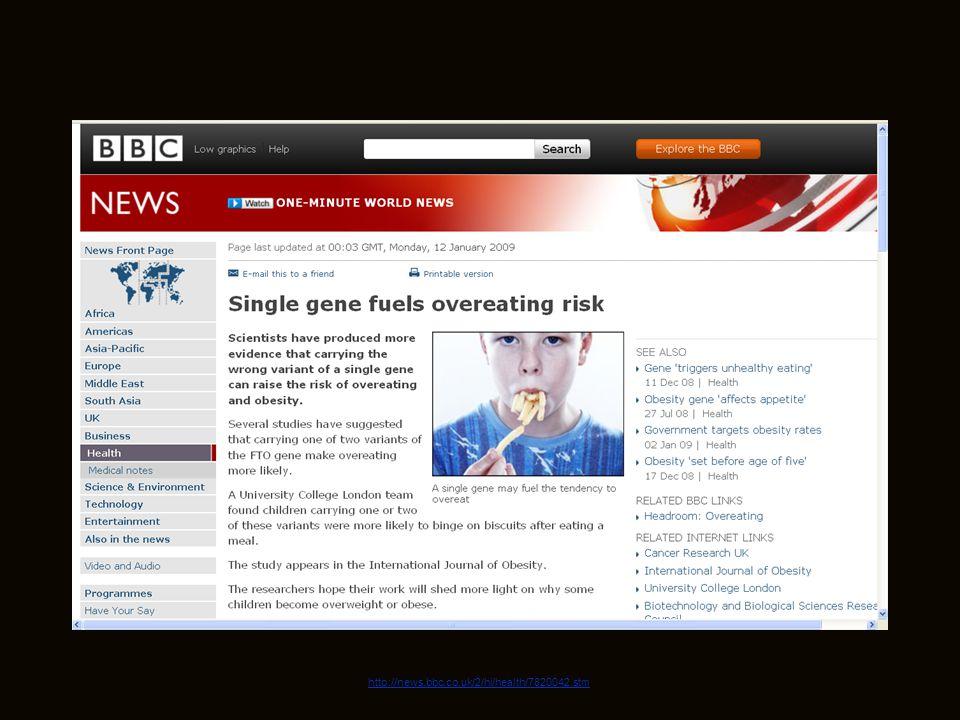 July 19, 2009 http://news.bbc.co.uk/2/hi/health/7820042.stm