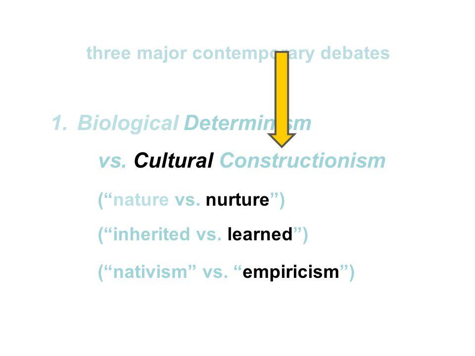 1.Biological Determinism vs.Cultural Constructionism ( nature vs.
