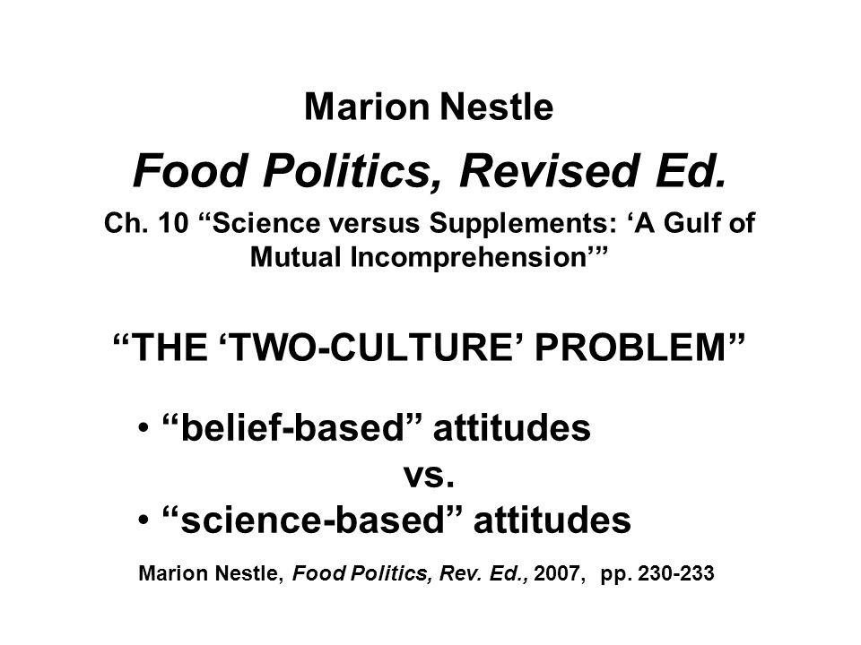 Marion Nestle Food Politics, Revised Ed.Ch.