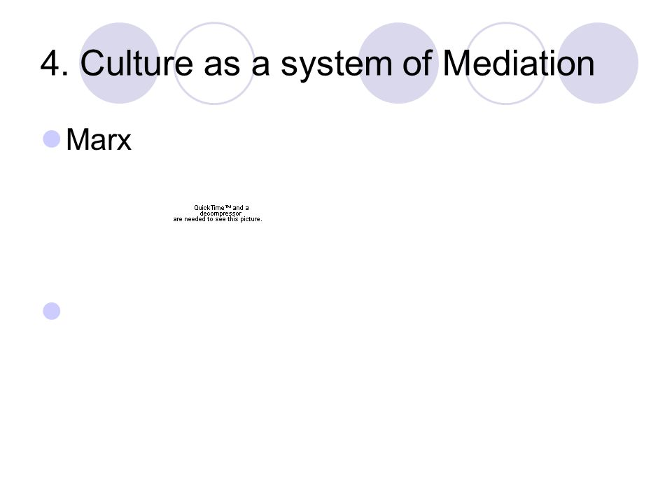 4. Culture as a system of Mediation Marx