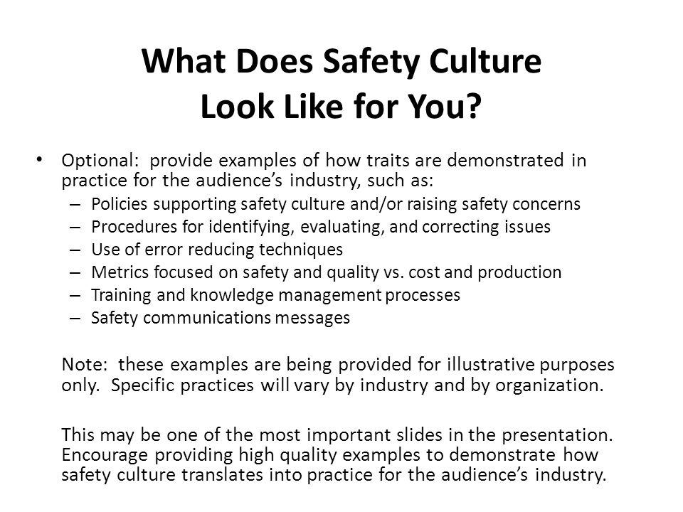 What Does Safety Culture Look Like for You.