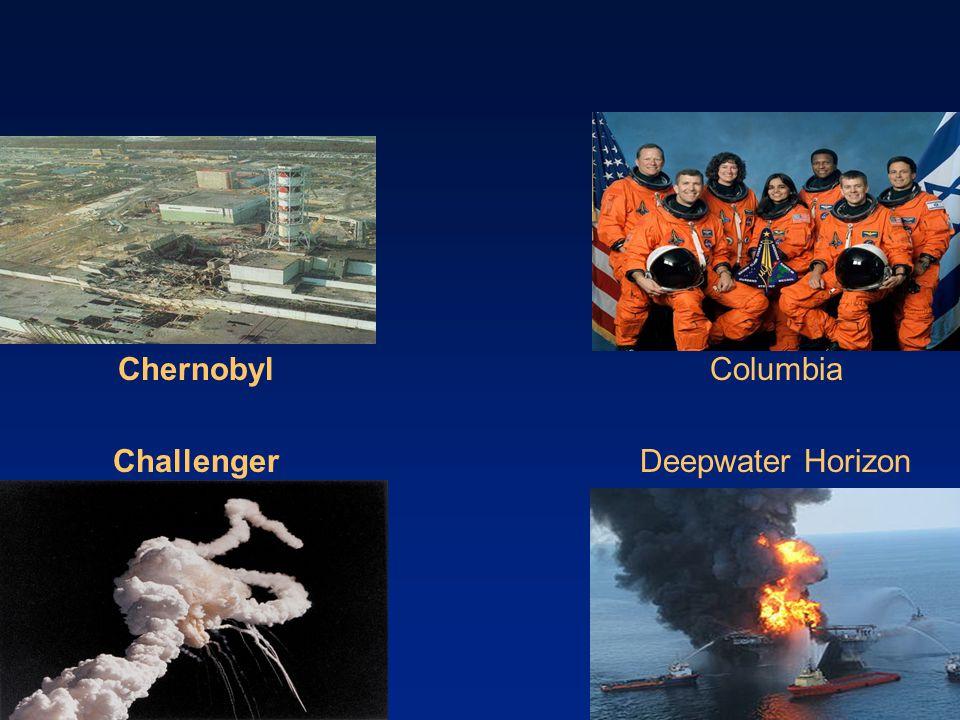 Chernobyl Challenger 17 Columbia Deepwater Horizon