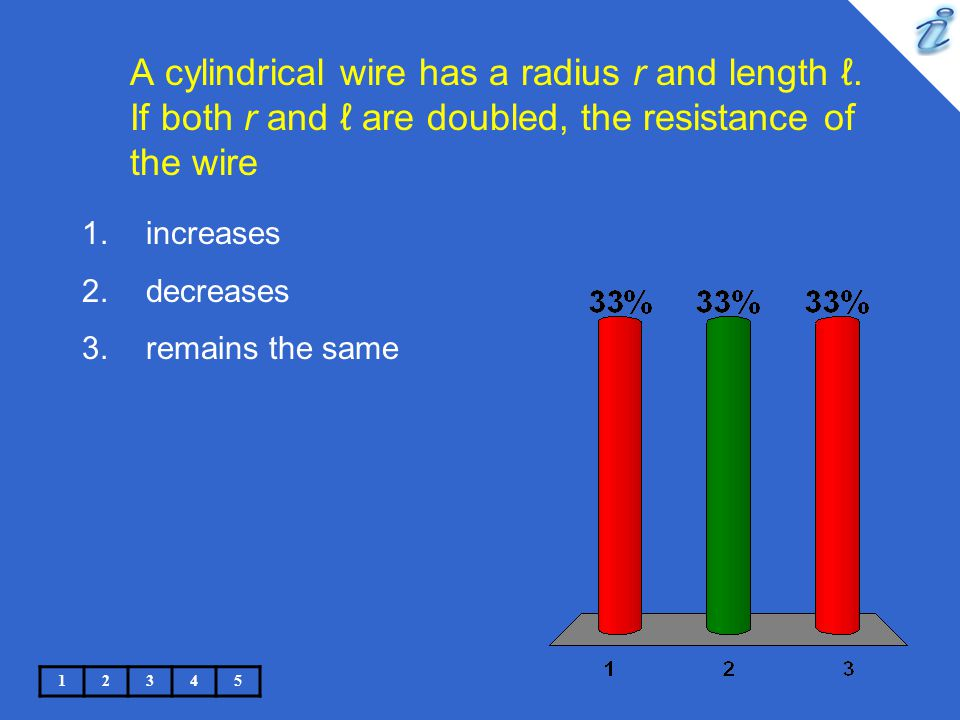 The doubling of the radius causes the area A to be four times as large, so Equation 27.11 tells us that the resistance decreases.