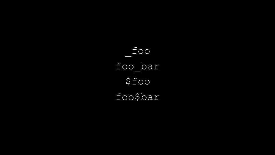 _foo foo_bar $foo foo$bar