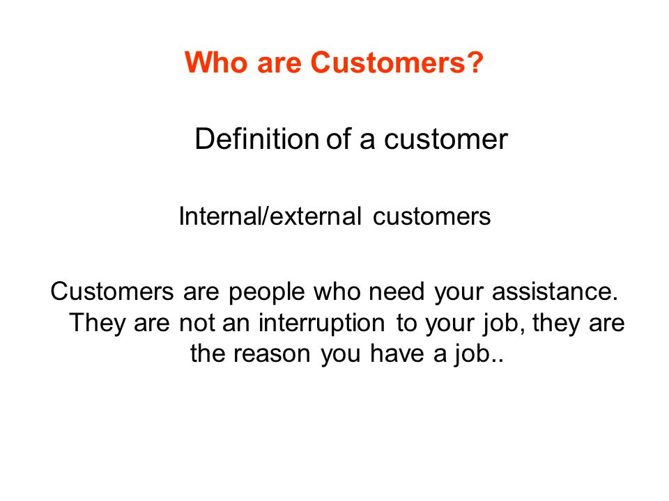 Communicating Effectively with Customers Definition: What describes GOOD service and BAD service.