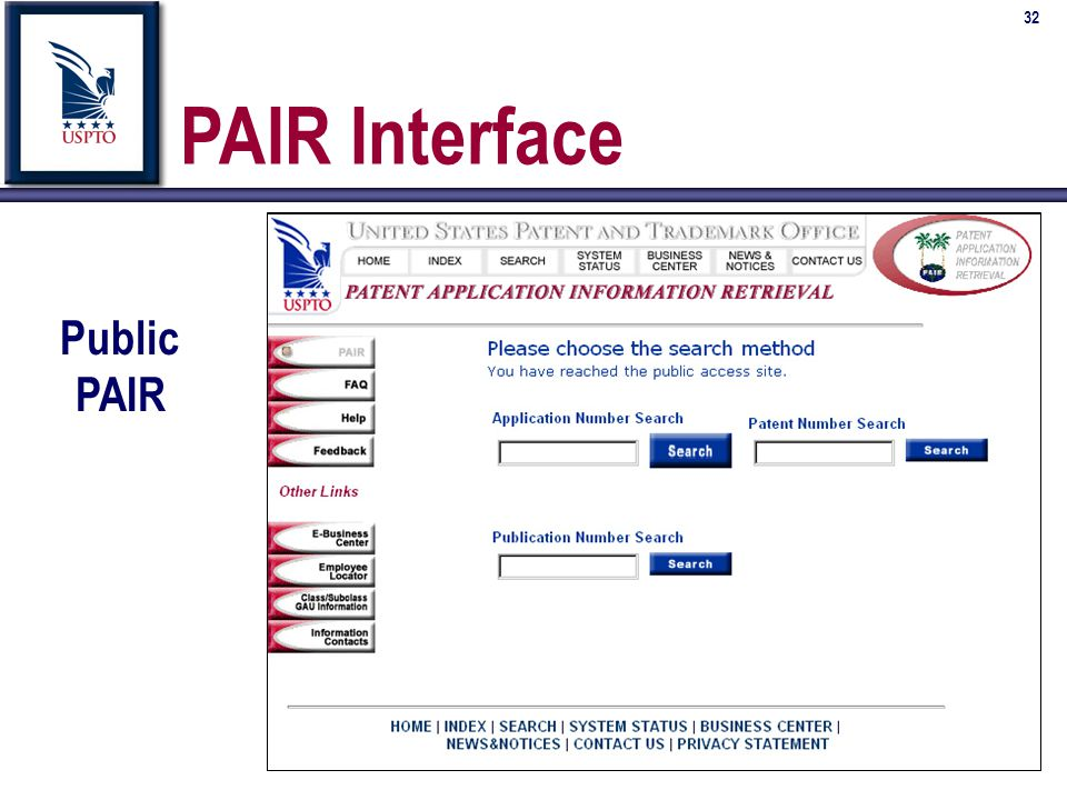 32 PAIR Interface Public PAIR