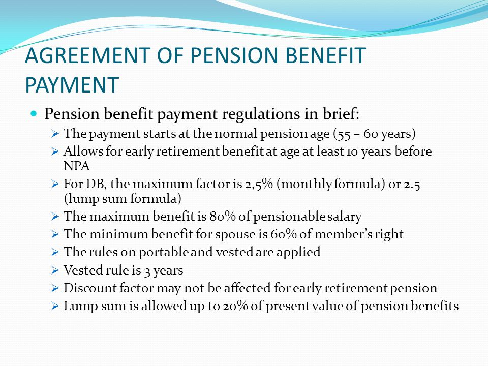AGREEMENT OF PENSION BENEFIT PAYMENT Is pension benefit payment able to be implemented at syariah pension funds?