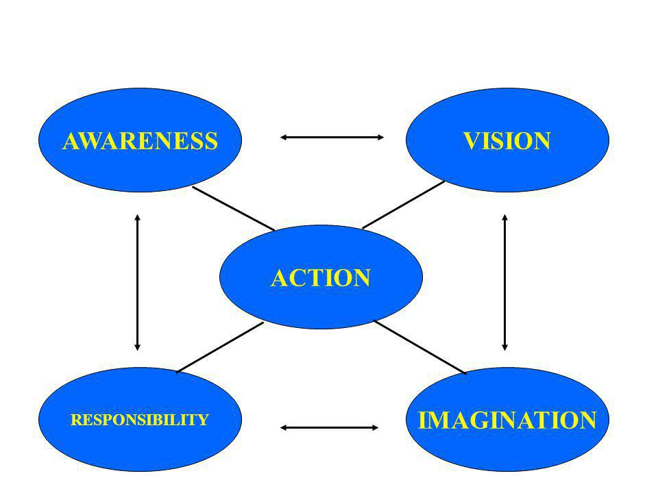AWARENESS ACTION RESPONSIBILITY IMAGINATION VISION