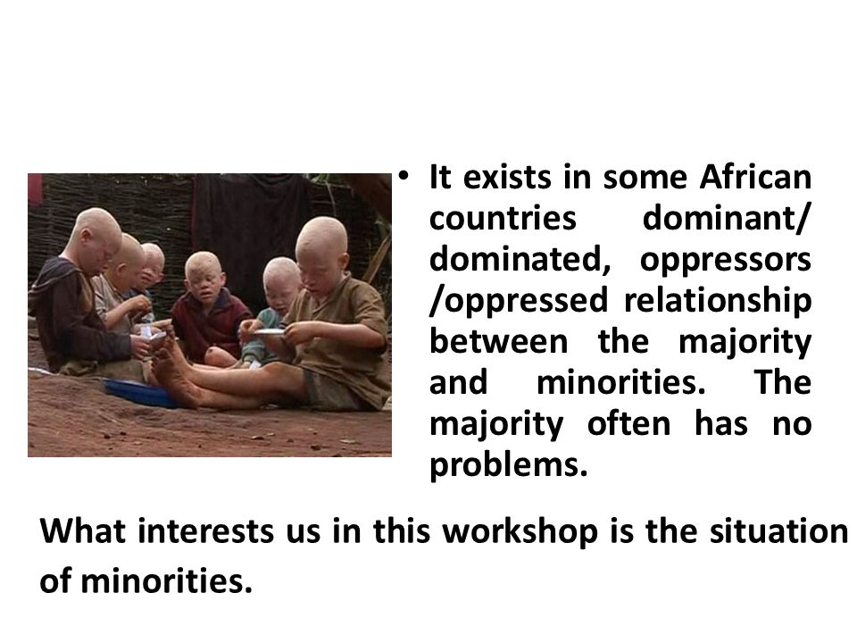 IV- IV- Deconstruction of the phenomenon of minorities and trial of social construction C.Acculturation, enculturation, acculturation The acculturation: is the process of removing someone s culture by force and replace it with another.