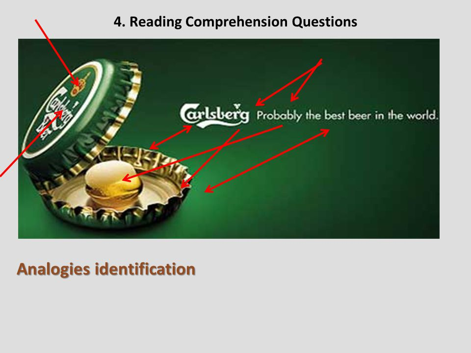 4. Reading Comprehension Questions Analogies identification