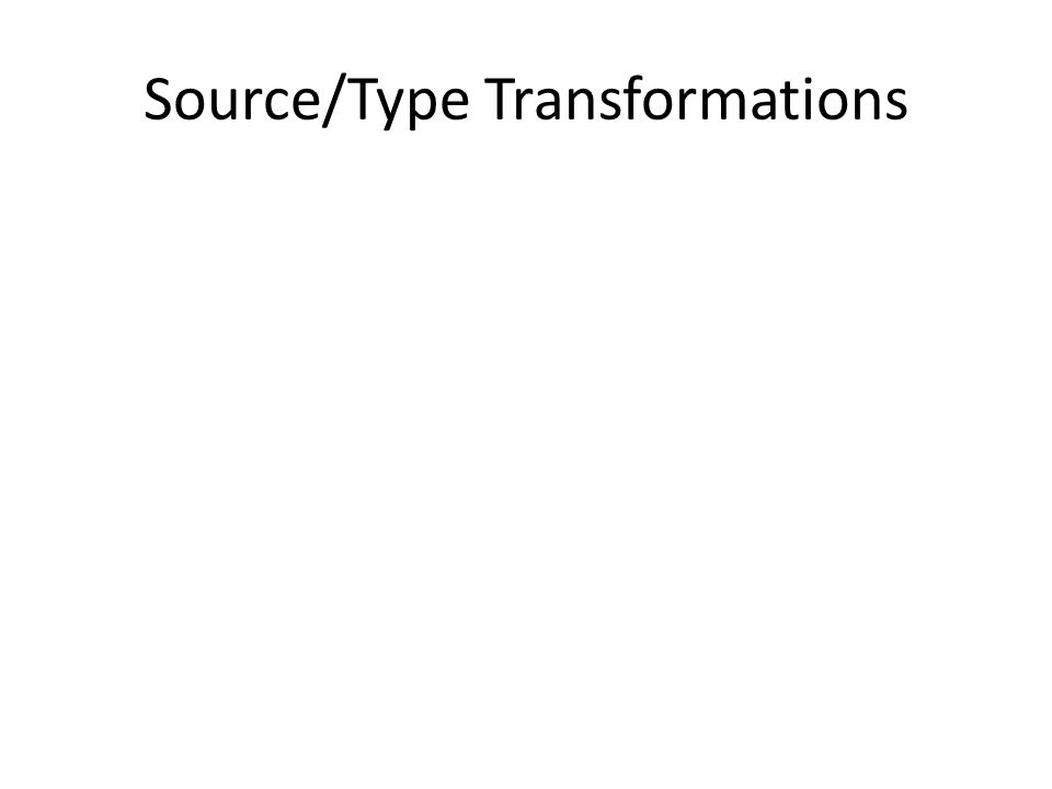 Source/Type Transformations