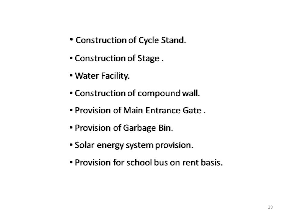 29 Construction of Cycle Stand. Construction of Cycle Stand.