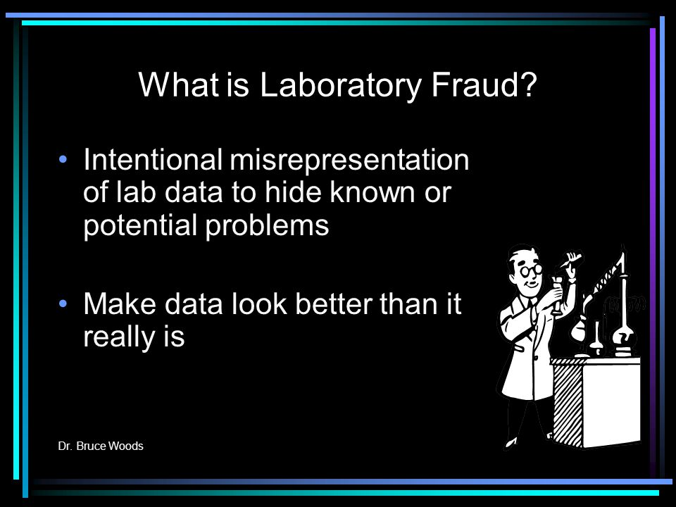 What is Laboratory Fraud.