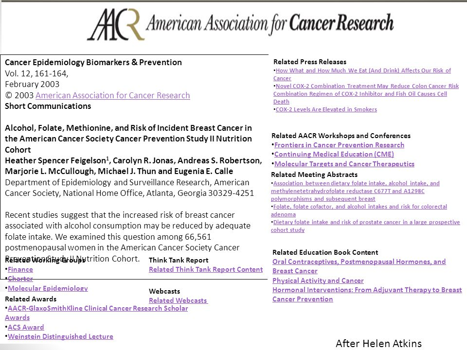 Access Innovations, Inc.. 12/11/2013 Cancer Epidemiology Biomarkers & Prevention Vol. 12, 161-164, February 2003 © 2003 American Association for Cance