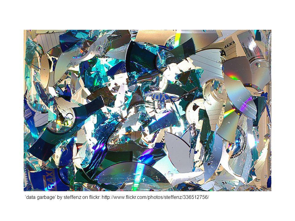 'data garbage' by steffenz on flickr: http://www.flickr.com/photos/steffenz/336512756/