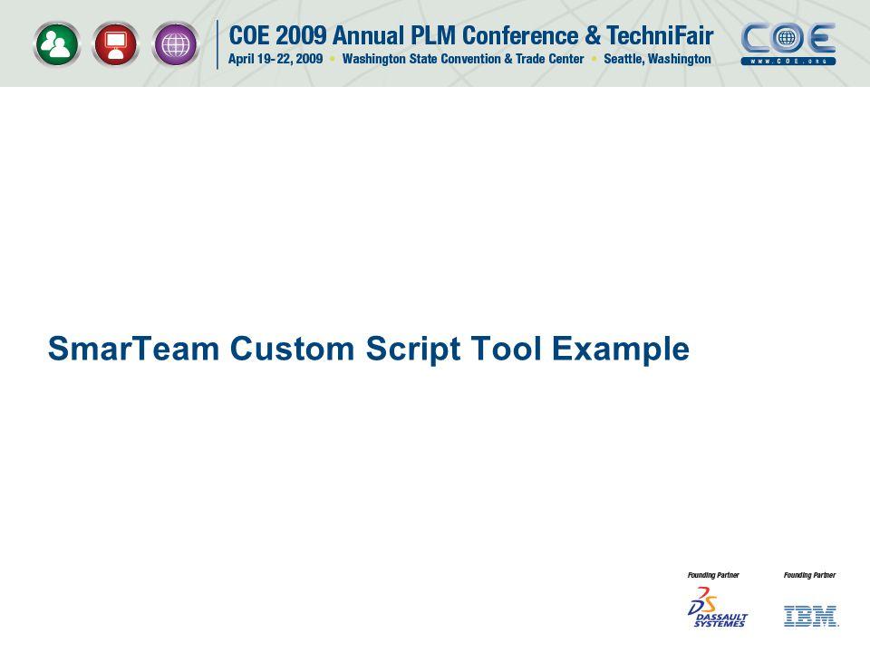 SmarTeam Custom Script Tool Example