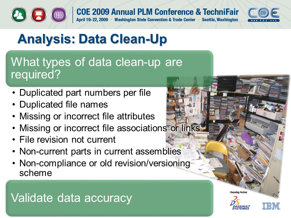 What types of data clean-up are required? Validate data accuracy