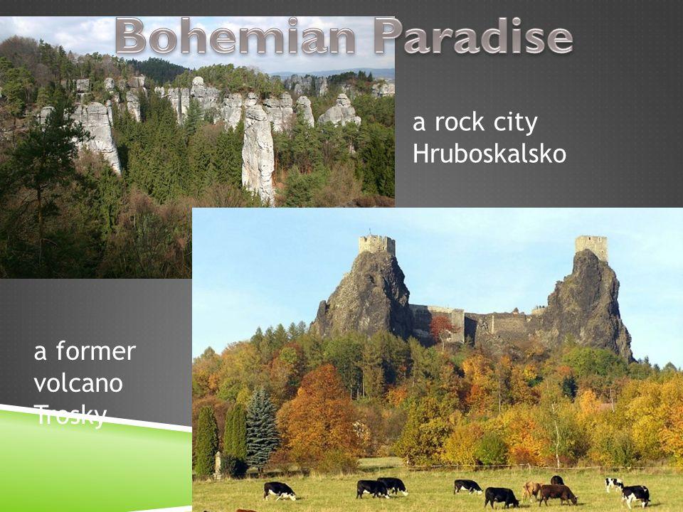 a rock city Hruboskalsko a former volcano Trosky