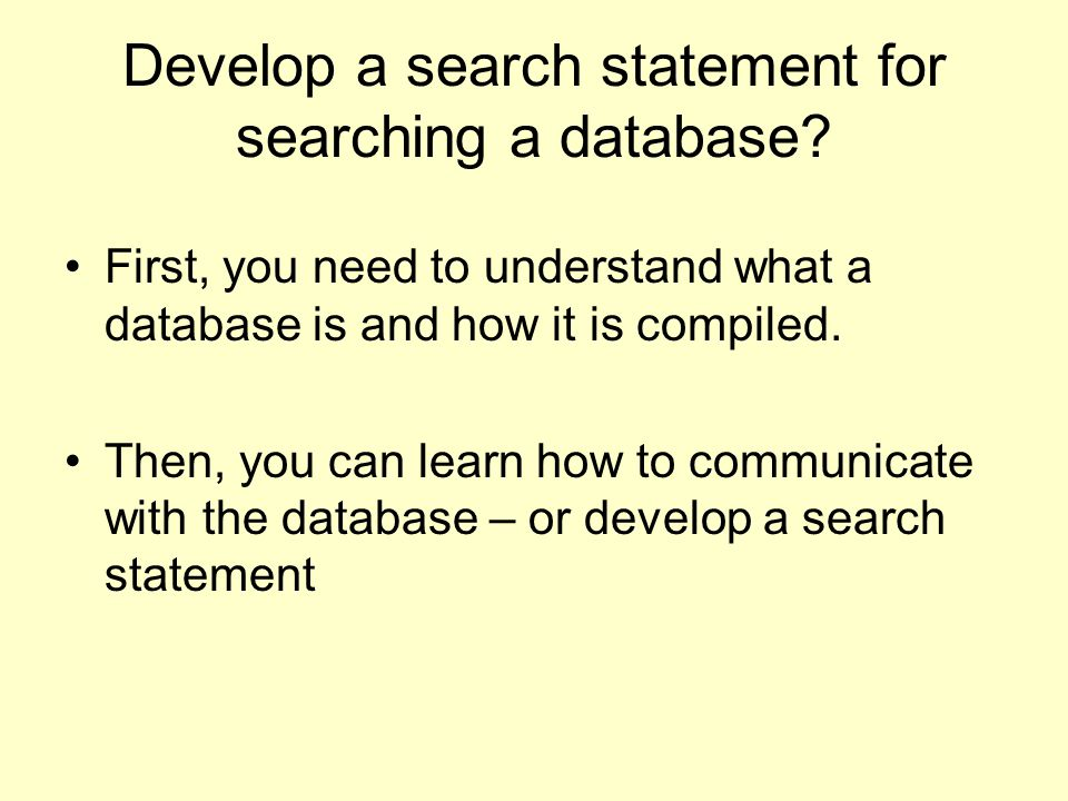 So - what is a database.