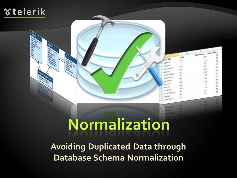 Avoiding Duplicated Data through Database Schema Normalization