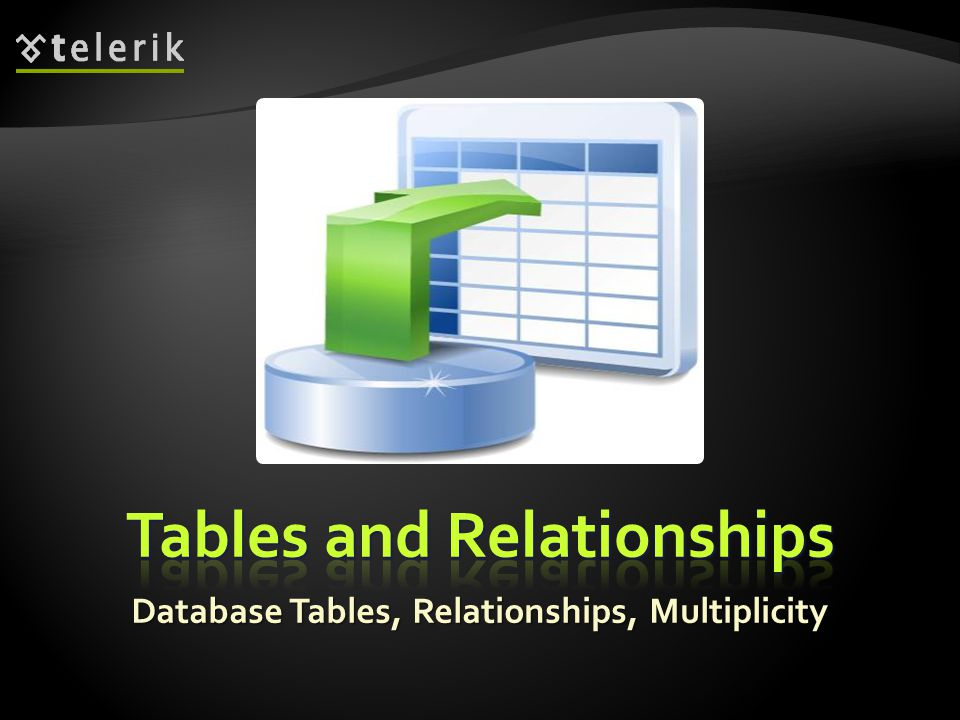 Database Tables, Relationships, Multiplicity