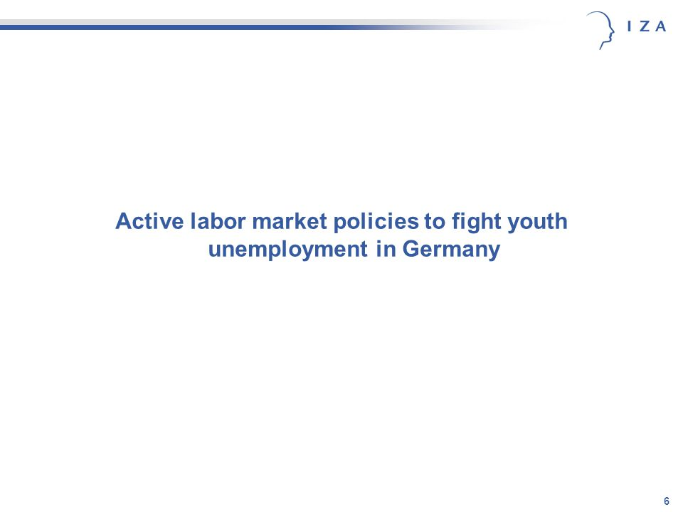 6 Active labor market policies to fight youth unemployment in Germany