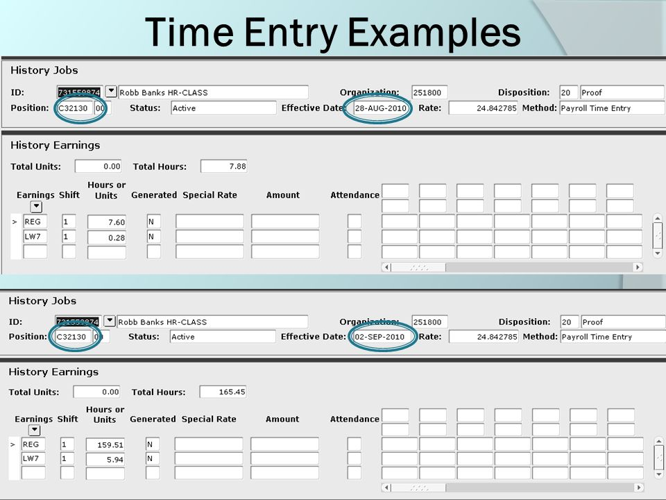 Job Form Process Timing  Job forms processed prior to the 16 th of the month for current or future changes can be entered with the true date as the Effective Date and the Personnel Date.