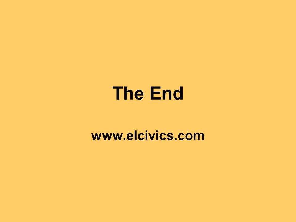 The End www.elcivics.com