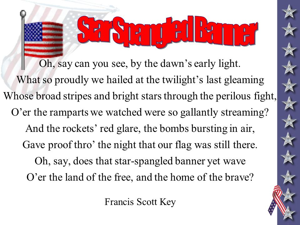 I Pledge Allegiance to the flag of the United States of America and to the Republic for which is stands, one Nation under God, indivisible, with liber