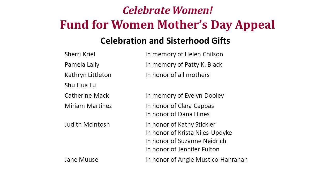 Celebrate Women.