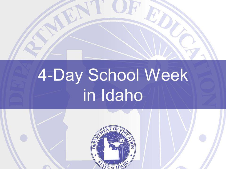 4-Day School Week in Idaho