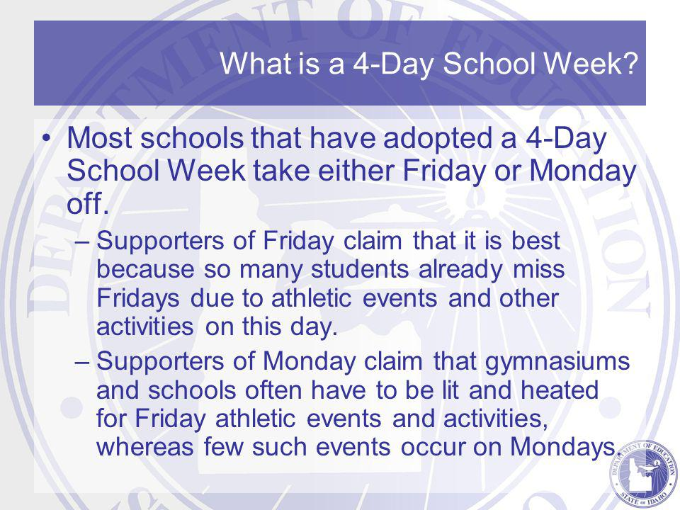 What is a 4-Day School Week.