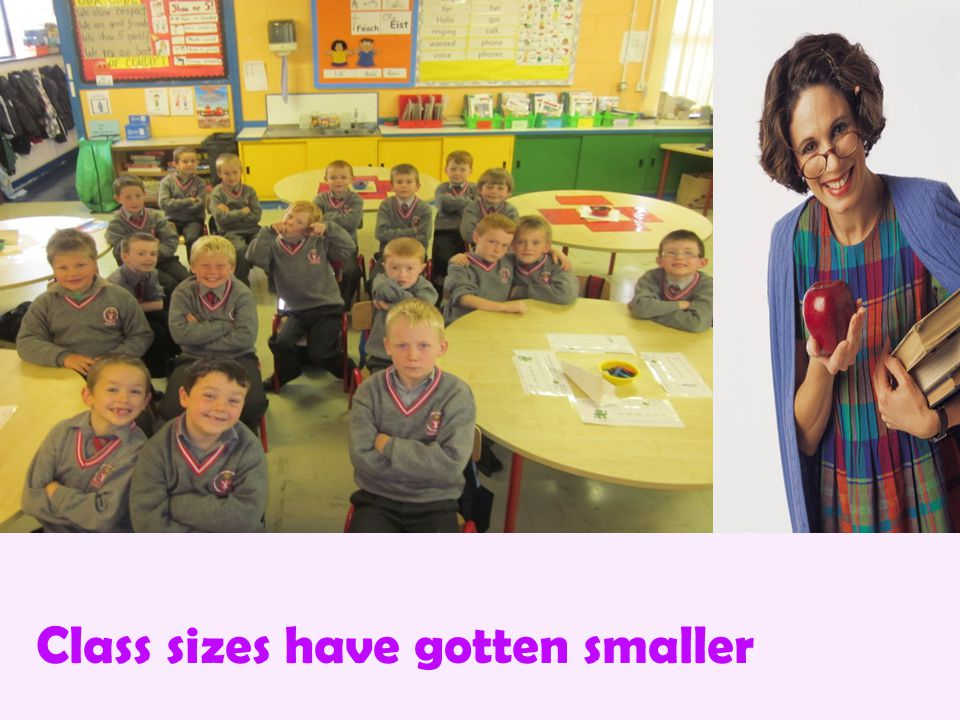 Class sizes have gotten smaller
